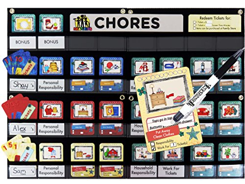 NEATLINGS Chore Chart System ●  Customize for 1-3 Kids