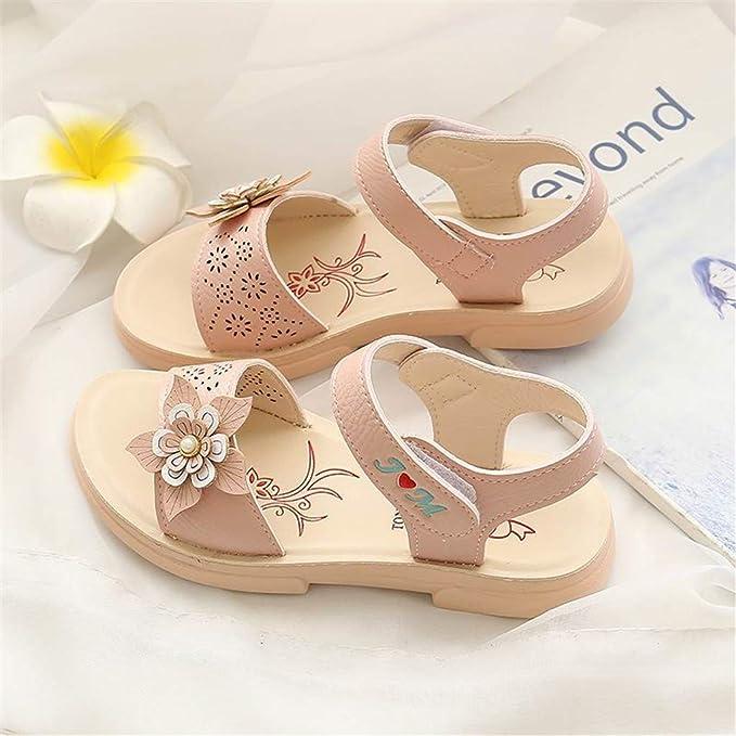 8404a93bd6 Berimaterry Sandalias Niña Verano Muchos Colores Infantiles para bebés Playa  de Cuero Suela de Goma Sandalias de Verano Zapatillas de Paseo Zapatos para  ...