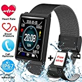 Smart Watch, Waterproof Fitness Tracker Watch with Heart Rate Blood Pressure Sleep Monitor for Men Women Kids iOS Android Phone Activity GPS Tracker Sports with Pedometer Calorie Stopwatch by Qiwoo