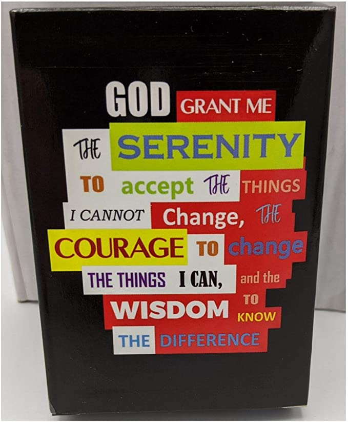 Serenity Prayer Alcoholics Anonymous Chip Holder Box AA Psychedelic Hippie Hand Painted recovery gift sobriety birthday