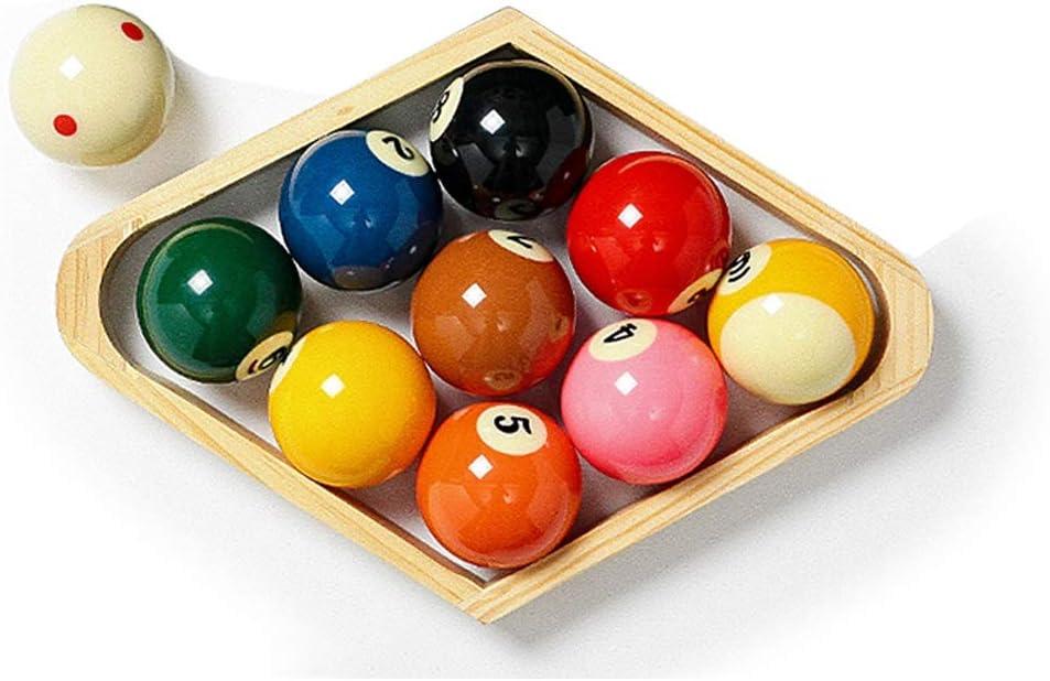 ZXH 57.2mm Bolas de Billar, Bola Americana 9 Resina Spots and Stripes Juego de Bolas de Mesa de Billar: Amazon.es: Deportes y aire libre