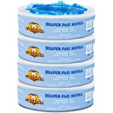 Signstek Diaper Pail Refills Compatible with Diaper Genie Pails,1080 Count,4-Pack