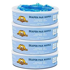 Diaper Pail Refills Compatible with Diaper Genie Pails,1080 Count,4-Pack