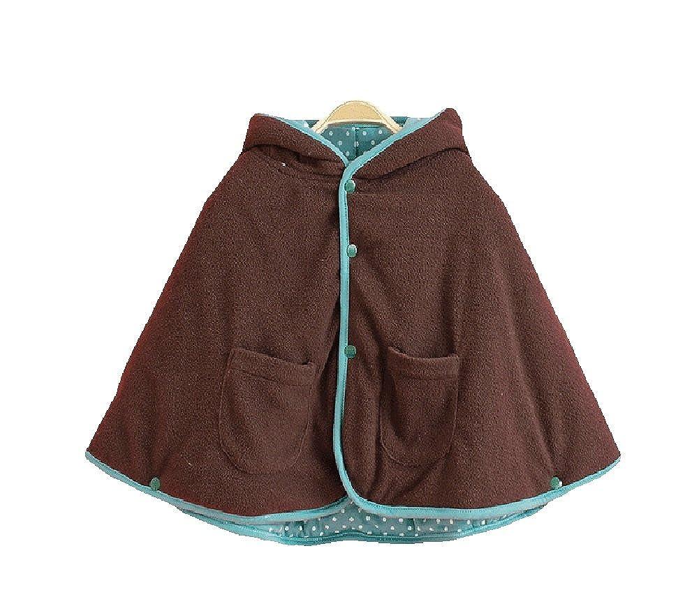 Janeyer Toddler Kids Winter Thick Hoodie Cape Coat Fleece Jacket Warm Outfits