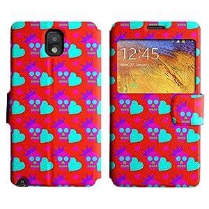LEOCASE Pink Skull Funda Carcasa Cuero Tapa Case Para Samsung Galaxy Note 3 N9000 No.1002126