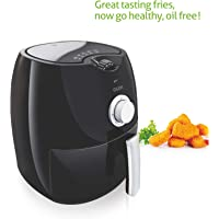 Glen 3044 Stainless Steel Air Fryer(2.8L, Black)