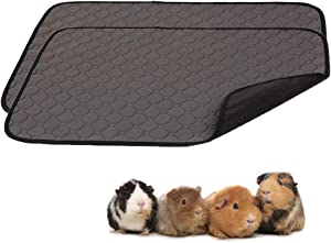 Guinea Pig Fleece Cage Liners - Washable Guinea Pig Pee Pads, Waterproof Reusable & Anti Slip Guinea Pig Bedding Fast and Super Absorbent Pee Pad for Small Animals.Food and Water Bowl Mat (S)