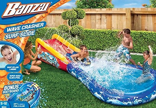 Banzai 18593 Wave Crasher Surf Slide 13 Feet Length or 396cm
