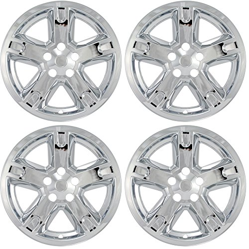 OxGord 17 inch Hubcap Wheel Skins for 2007-2011 Dodge Nitro-(Set of 4) Wheel Covers- Car Accessories for 17inch Chrome Wheels- Auto Tire Replacement Exterior Cap Cover