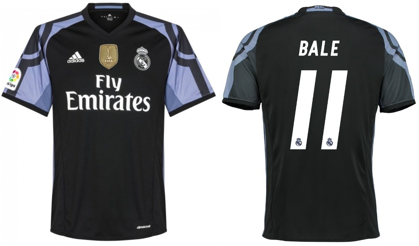 Trikot Kinder Real Madrid 2016-2017 Third WC - Bale 11