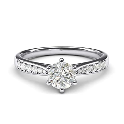Fine Jewelry Fine Rings Stunning 14k White Gold 1.5 Carats Diamond Bridal Set Ring Size 7 Highly Polished