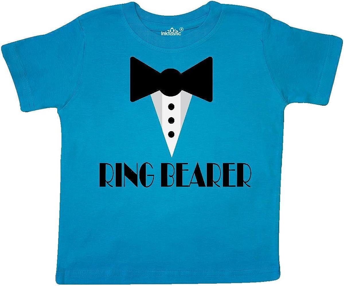 inktastic Ringbearer Mock Tux Wedding Tuxedo Toddler T-Shirt