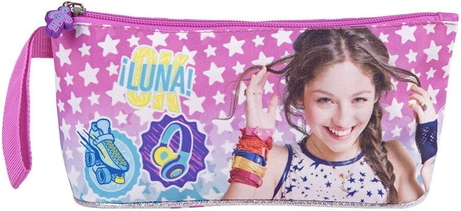 Estuche escolar para niña, estuche Disney Soy Luna para lápices de colores y lápices – 10 x 21 x 8 cm de 100% nailon: Amazon.es: Hogar