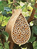 Bamboo Mason Bee Hive House, Beige, Bamboo And Plywood