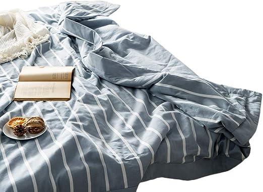 Mantas con peso Algodón Enfriamiento Manta con peso Algodón lavado Duvet Acondicionador de aire Edredón Colcha delgada Doble All-Seasons Niños o adulto (color : C , Tamaño : 200X230cm 220X240cm) : Amazon.es: Hogar