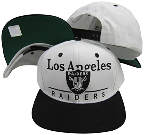 adb79fd03 Image Unavailable. Image not available for. Color: Reebok Oakland Raiders  White/Black Two Tone Plastic Snapback Adjustable Plastic Snap Back Hat/