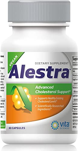 Cholesterol Support Supplement with Niacin, Plant Sterols, Policosanol, Guggul Extract and Garlic. Vegan, Naturally Maintains Healthy Cholesterol Levels and Powerfully Promotes Heart Health – Alestra