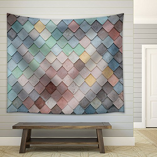 Colorful Mosaic Tile Fabric Wall