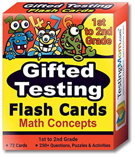 Gifted Testing Flash Cards – Math Concepts for Grade 1 – Grade 2 – Educational Practice for CogAT Test, OLSAT Test, ITBS, NYC Gifted and Talented, WISC, WPPSI