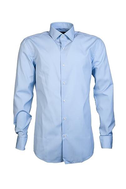 55a75eb5c Hugo Boss Mens Smart Shirt JERRIS 50380348 Size 38 Blue: HUGO BOSS ...