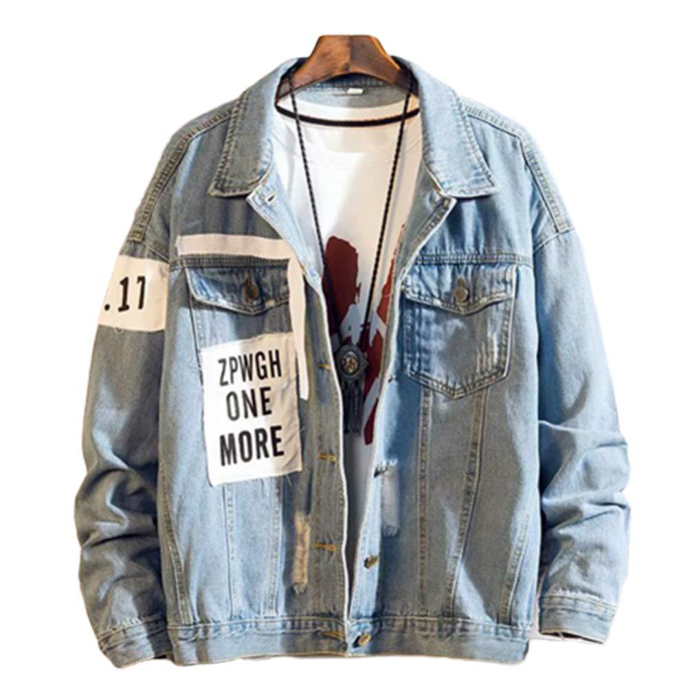 Buy FidgetGear Men Fashion Denim Jackets Shred Baggy Korean Style