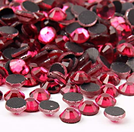 Strass Hotfix rhinestones 100 pièce rose ø4mm