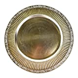 Homeford Victorian Style Charger Plate, Champagne, 13-Inch, 12-Count