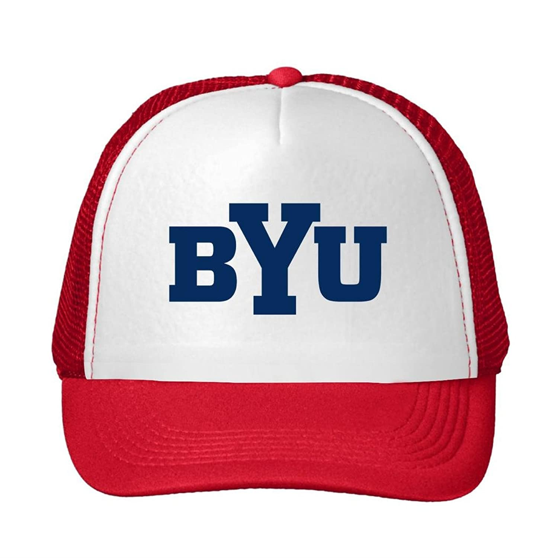 Nice Cotton Men Women Trucker Hat Byu Cougars Logo 2016 Adjustable Cute Sun Cap