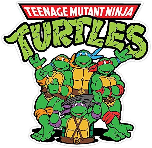 Teenage mutant ninja turtles cartoon vinyl sticker decal 5x5 car bumper buy online in uae ninja turtles products in the uae see prices