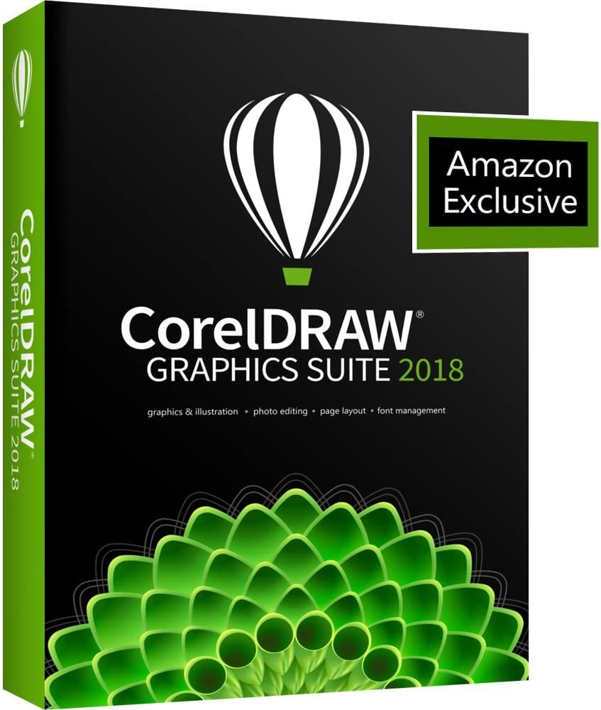 CorelDRAW Graphics Suite 2018 Upgrade with ParticleShop Brush Pack for PC - Amazon Exclusive (Old Version)