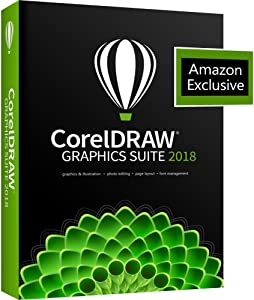 CorelDRAW Graphics Suite 2018 with ParticleShop Brush Pack for PC - Amazon Exclusive (Old Version)