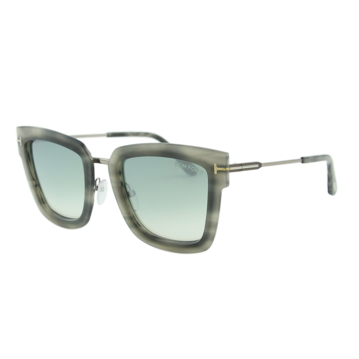fa8023881aa4 2018 Tom Ford Lara-02 FT0573 Women Gray   Mirrored Light Blue Square  Sunglasses at
