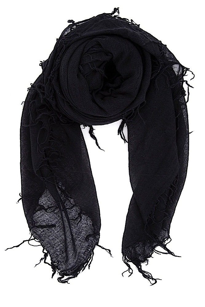 Chan Luu Women's Combo Cashmere Silk Scarf 62''x 58'' in Black by Chan Luu