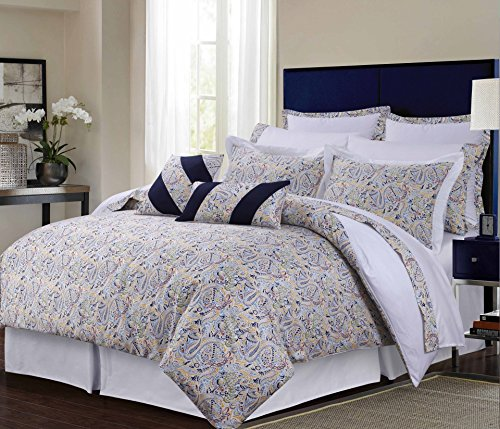Tribeca Living Fiji Cotton 12-Piece Bed in A Bag Set, King Multicolor
