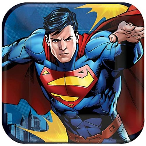 (Superman Small Paper Plates (8ct))