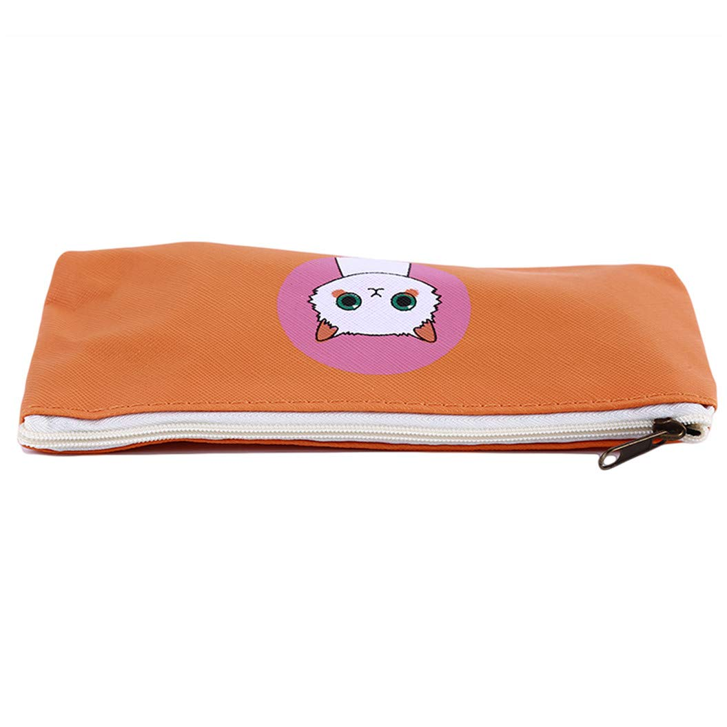 LZIYAN Cute Pencil Case Cartoon Cat Large Capacity Stationery Bag Pouch Case With Zipper Creative Pen Storage Bag Student Supplies,Orange by LZIYAN (Image #3)