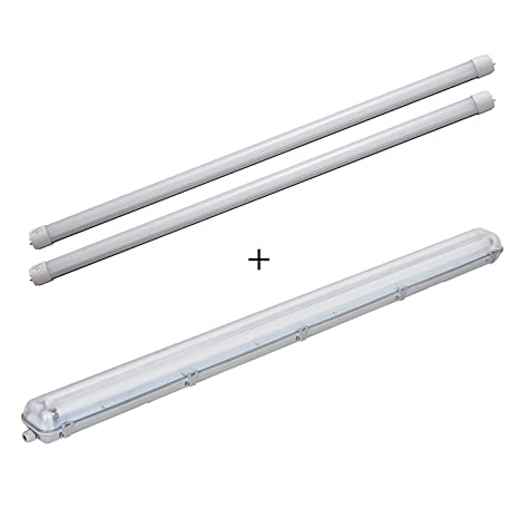Extremement LEDUS LED Tube Bundle Batten Light Fitting 4ft 120cm 2x18W [4000 SR-43