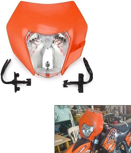 Motorcycle 2017 Universal Plastic Headlight Headlamp Frontlight For KTM EXC SXS SX EXC XC XCF XCW XCFW SXF SMR MX EGS 50-525 Orange