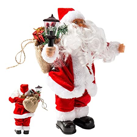 musical santa claus decorations battery operated standing santa claus toys christmas decorations lamp