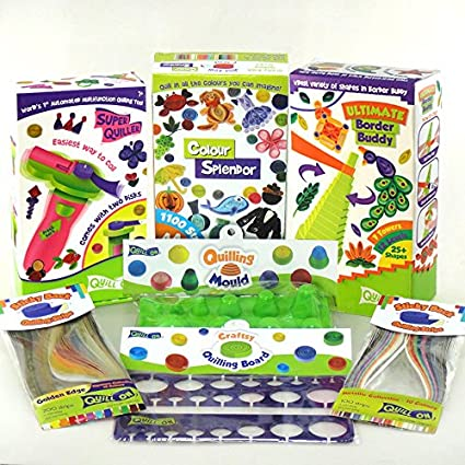 Ultimate Quilling Kit A unique creative gift 3 other quilling tools and 1600 Quilling Strips Contains Automated Quilling Tool