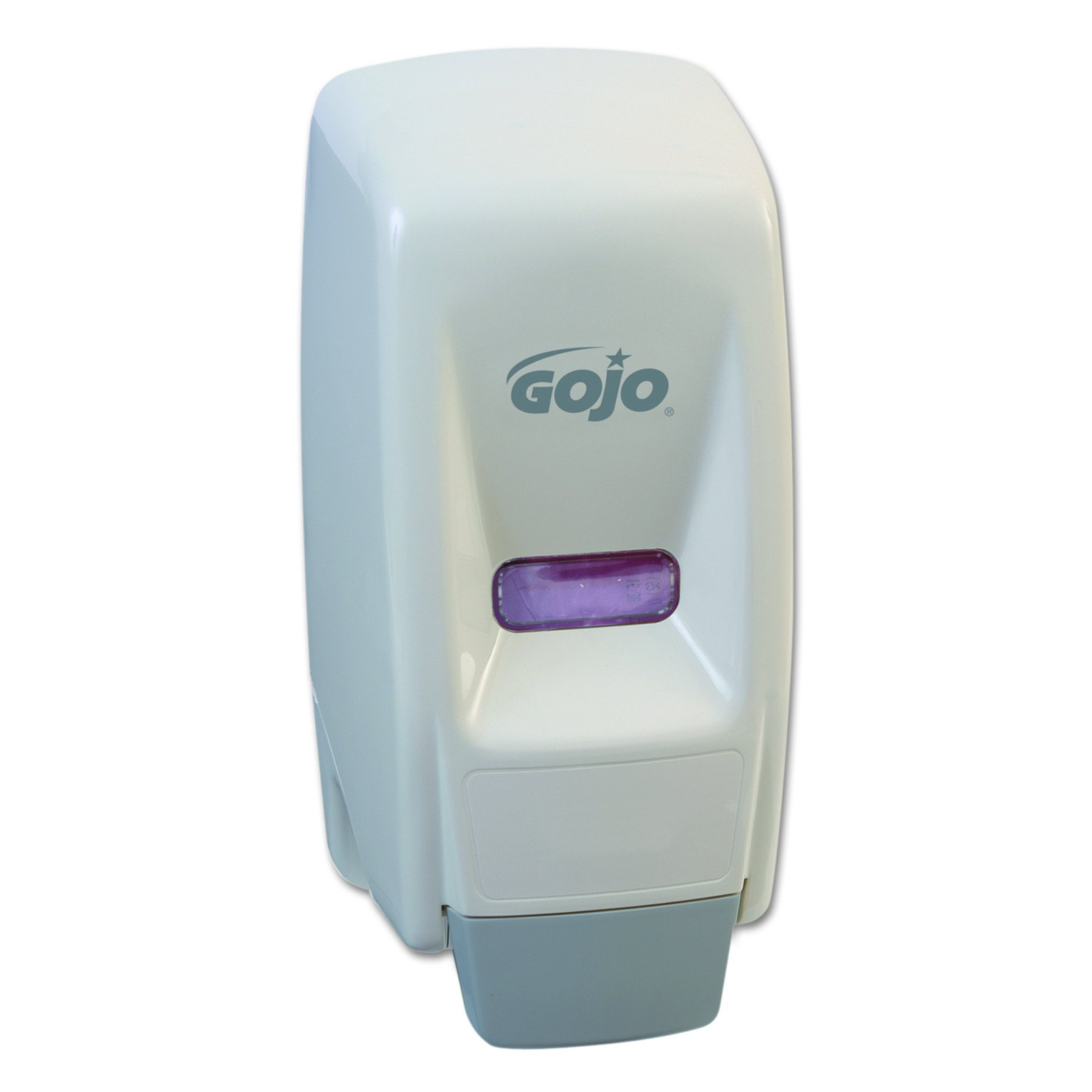 GOJO 903412 Bag-In-Box Liquid Soap Dispenser, 800mL, 5 3/4w x 5 1/2d x 11 1/8h, White by Gojo