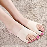 Buildent(TM) Feet Care Hallux Valgus Orthotics Toe Separators Straightener Bunion Pain Relief Thumb Valgus Protector for 34-37 Size 1 Pair