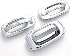1999-2006 GMC SIERRA SILVERADO Chrome Door Handle COVERS No PSK+Tailgate Cover