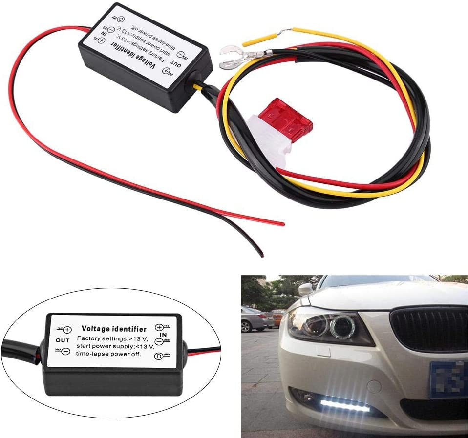 DRL Controller Auto Car LED Daytime Running Lights Controller Dimmer ON//OFF Switch Daytime Running Light Relay Harness Dimmer