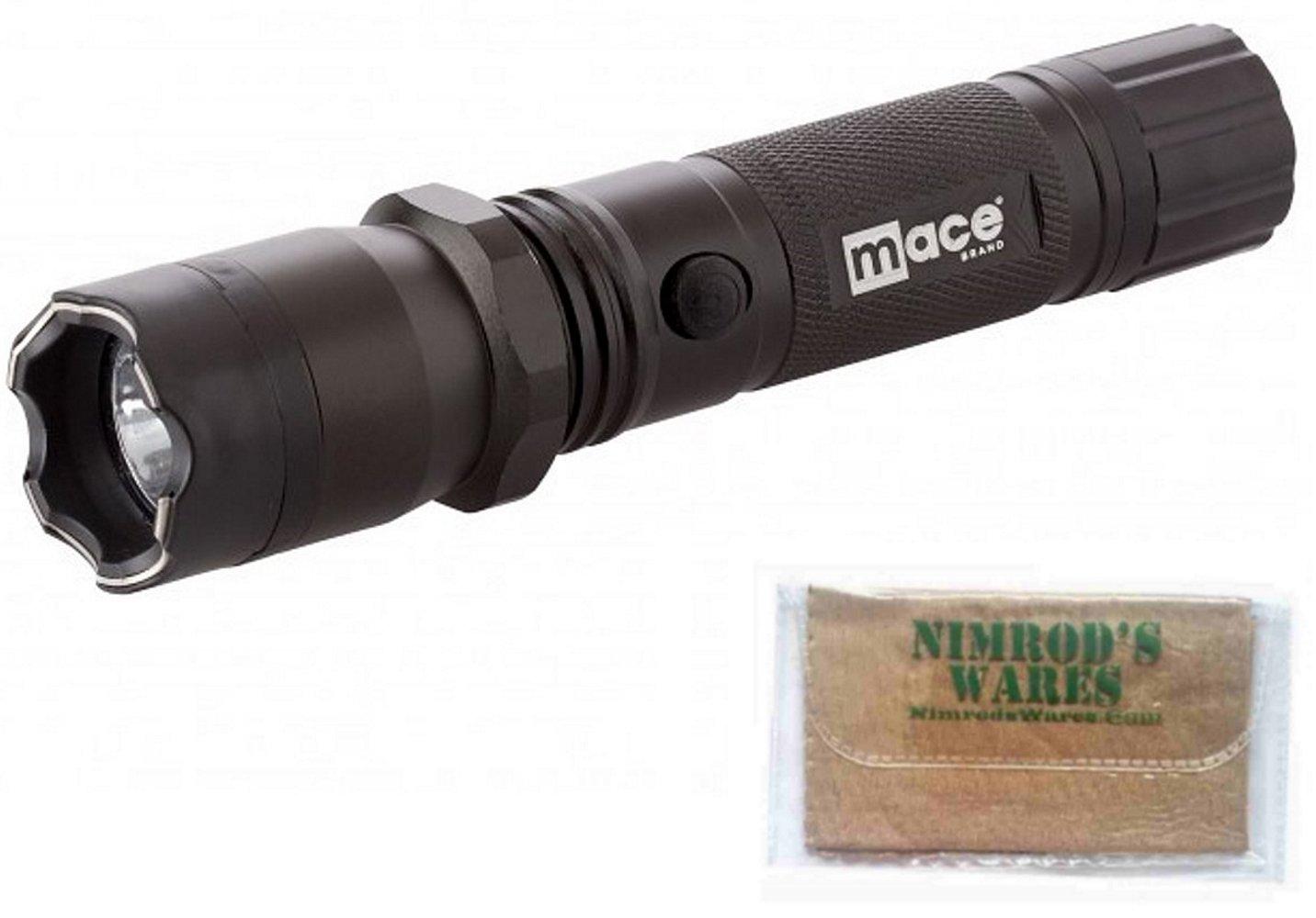 MACE Stun GUN & Flashlight 2.4 million VOLTS 300 Lumens Strobe + Nimrod's Wares Microfiber Cloth