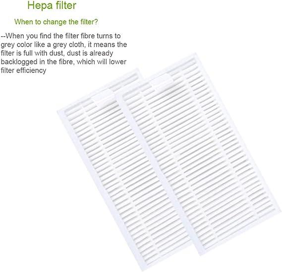 Parkomm Repuesto Hepa Filter para iLife V3, V3S, V3S Pro, V5, V5S ...
