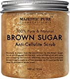 #5: Majestic Pure Brown Sugar Scrub 12 oz - Natural Exfoliator and Powerful Body and Facial Scrub for Anti Cellulite Treatment, Stretch Marks, Acne, and Varicose Veins