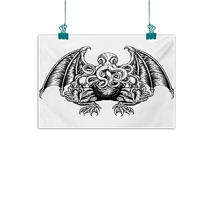 Amazon.com Mdxizc Art Canvas Print Kraken Cthulhu Monster