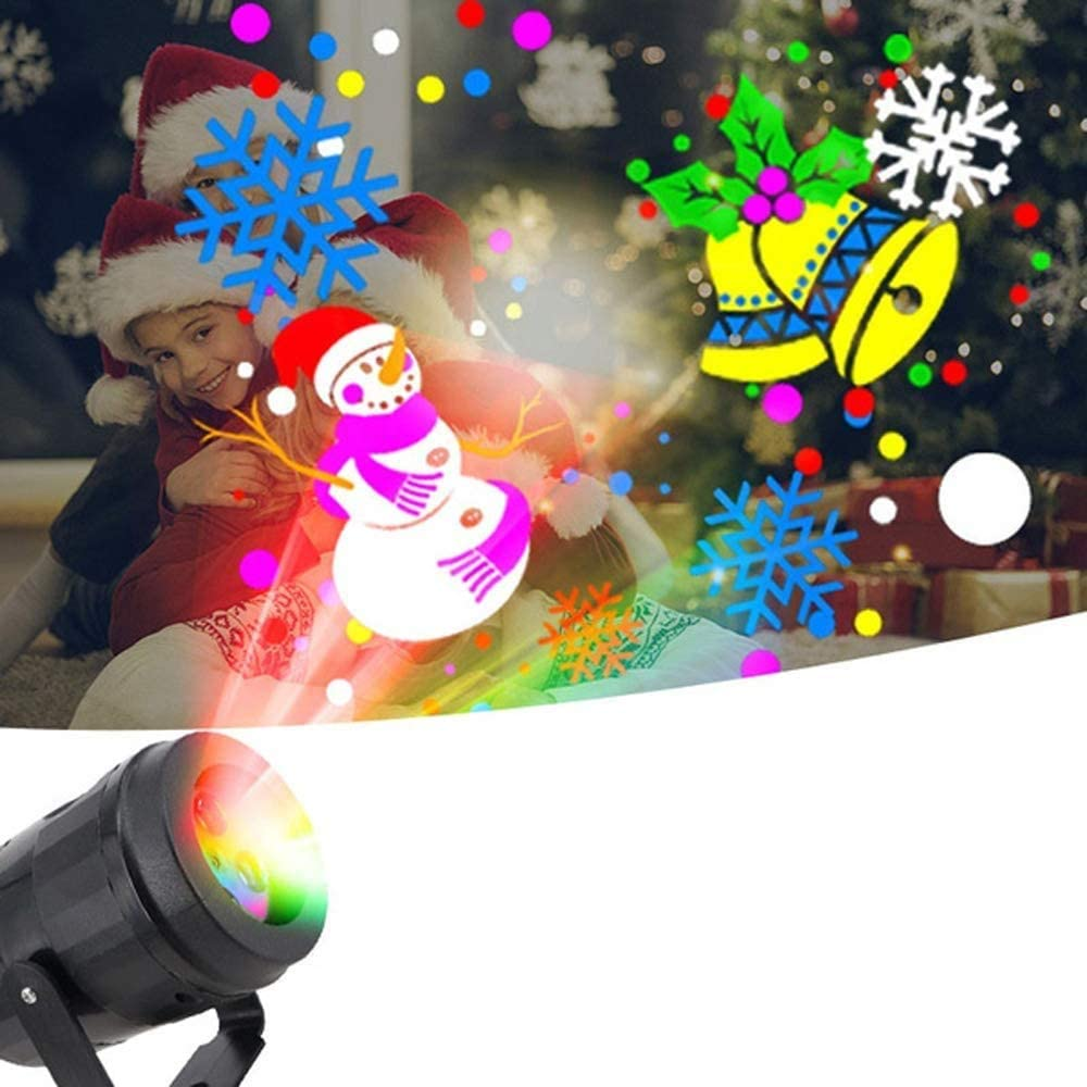 Beautsoful Christmas Holiday Projector Lights Indoor,Christmas Projector Lights with 16 Slide Moving Pattern,Waterproof LED Projection Light for Decoration