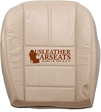 The Seat Shop Driver Bottom Replacement Leather Seat Cover Camel Tan Compatible with 2008-2010 Ford F250 and F350 Super Duty Lariat and XLT